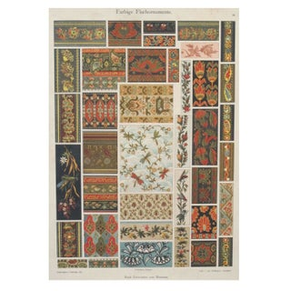 Colorful Decorator Sheet - Birds & Bees C.1900