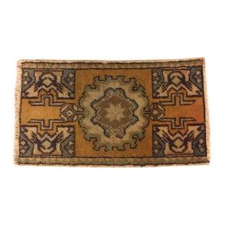 Vintage Tribal Turkish Rug - 1′6″ × 2′7″