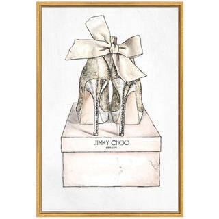 """Oliver Gal's """"My Romantic Pair"""" Canvas in Gold Float Frame"""