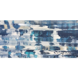 "Alicia Dunn ""Regatta"" Original Indigo Abstract Painting"