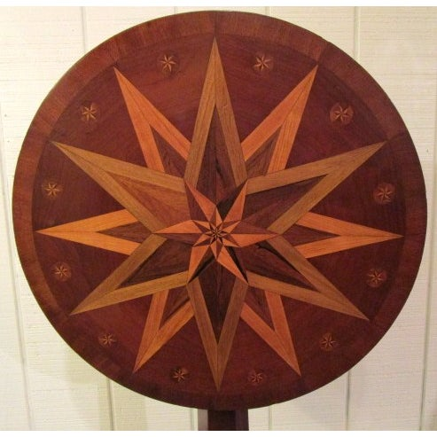 Image of Round Mahogany Table With Inlaid Top