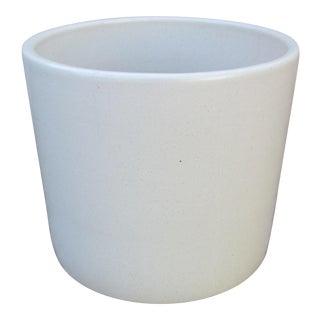 Gainey Ceramics Mid-Century Modern White Ceramic Planter