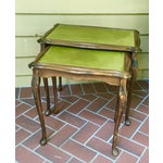 Image of French Walnut Nesting Tables - A Pair