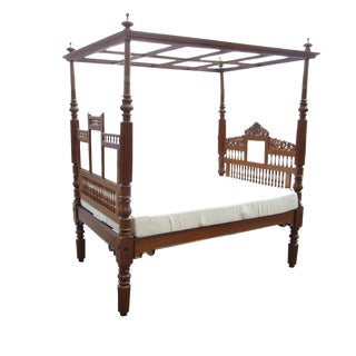 Vintage Indian Canopy Bed
