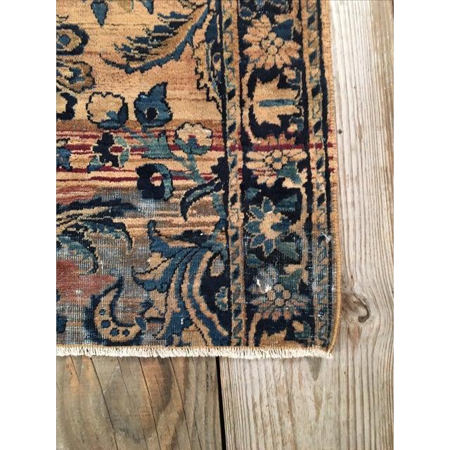 Keshan Persian Rug Fragment - 2′8″ × 4′5″ - Image 6 of 7