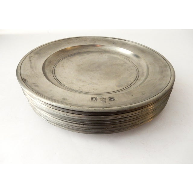 Traditional Pewter Sous Plats - Set of 10 - Image 5 of 9