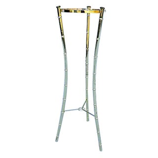 Bamboo Style 3-Leg Tall Slim Brass Plated Planter