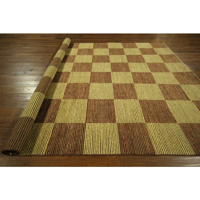 "Checkered Gabbeh Kashkuli Rug - 8'2"" x 10'6"" - Image 10 of 10"