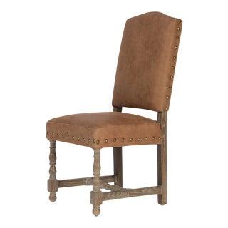Sarreid LTD Oak & Suede Side Chair