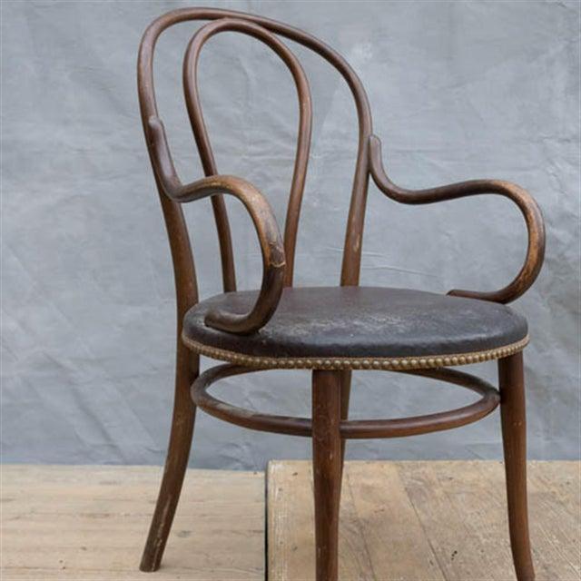 Thonet Vintage Bentwood Armchair | Chairish