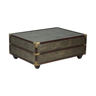 Sarried Ltd Leather Shagreen Cocktail Table