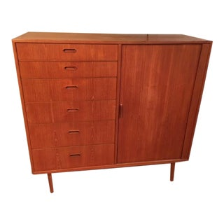 Falster Møbelfabrik Gentlemen's Highboy Dresser