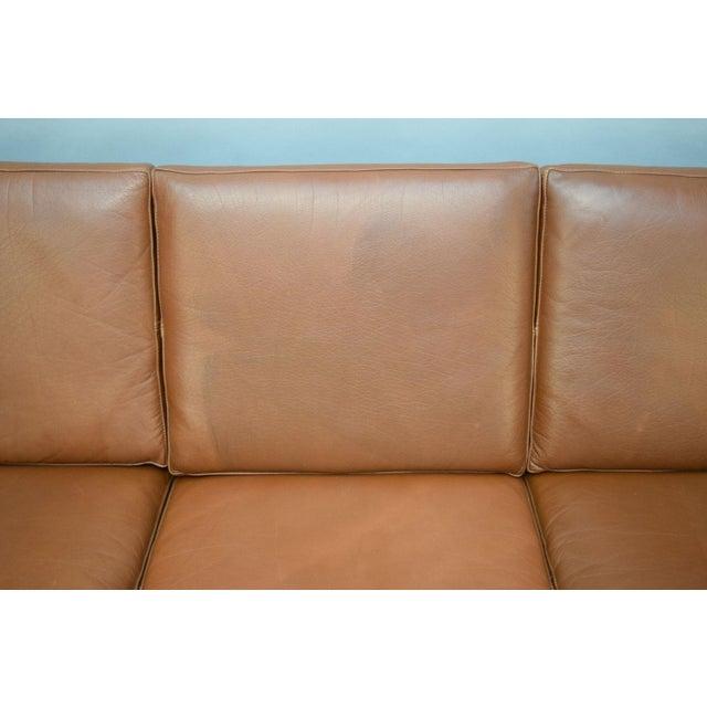 On Hold - Borge Mogensen Style Danish 3 Seater Leather Sofa - Image 9 of 10