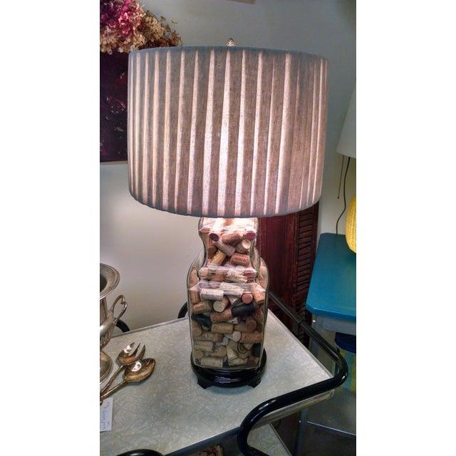 Vintage Wine Cork Filled Table Lamp Chairish