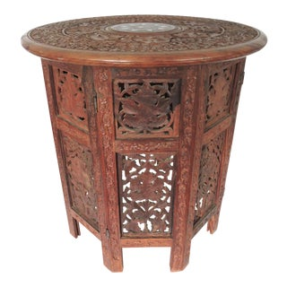 Anglo Indian Folding Side Table
