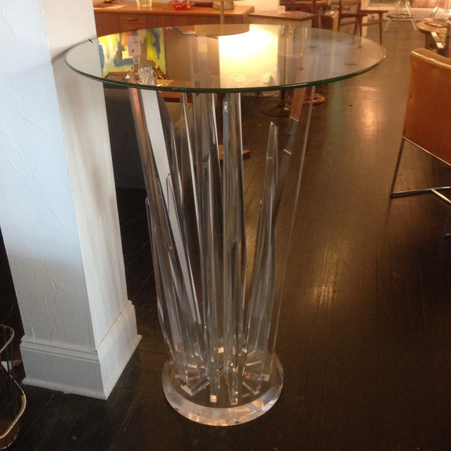 Haziza Rock Bar Lucite Crystal Table - Image 3 of 11