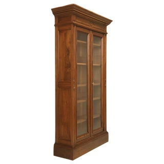 Antique French Walnut Bookcase or Bibliotheque