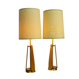 Danish Modern Table Lamps - A Pair
