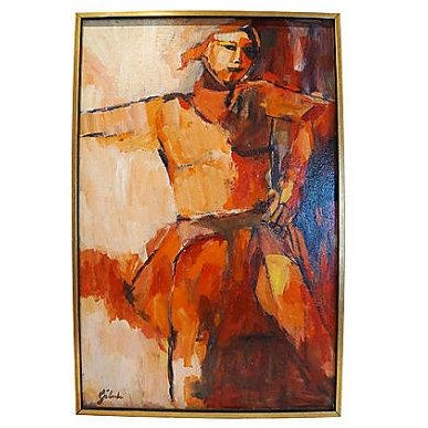 Abstract Painting by Gaboda, Signed - Image 1 of 4