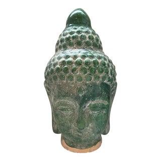 Jade Majolica Buddha Head