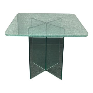 Crackle Glass Topped Dinette Table
