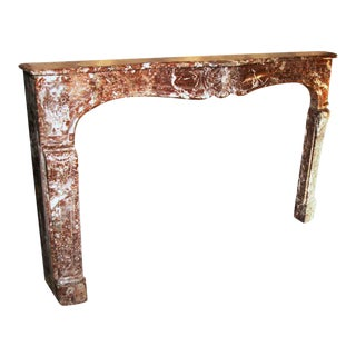 Early French Louis XV Marble Mantel