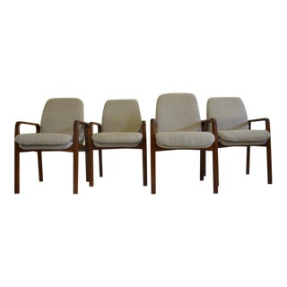 Drylund Danish Dining Arm Chairs - Set of 4