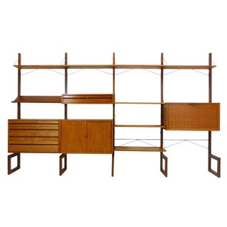 Poul Cadovius for Cado Free Standing Danish Teak Wall Unit
