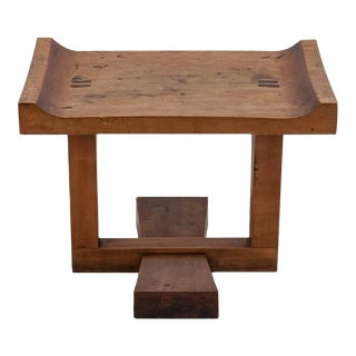 Exceptional studio craft cherry wood bench, stool or coffee table, USA, 1950s
