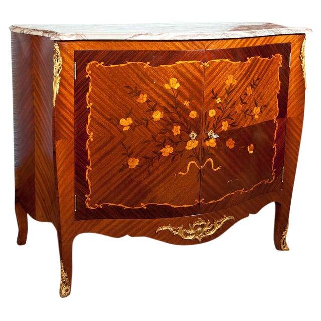 French Style Mahogany Bar Cabinet - Image 1 of 10