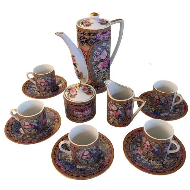Image of Vintage Demitasse Tea Set - Set for 6