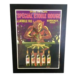 """""""Special Etoile Rouge"""" Bordeaux Wine Print"""