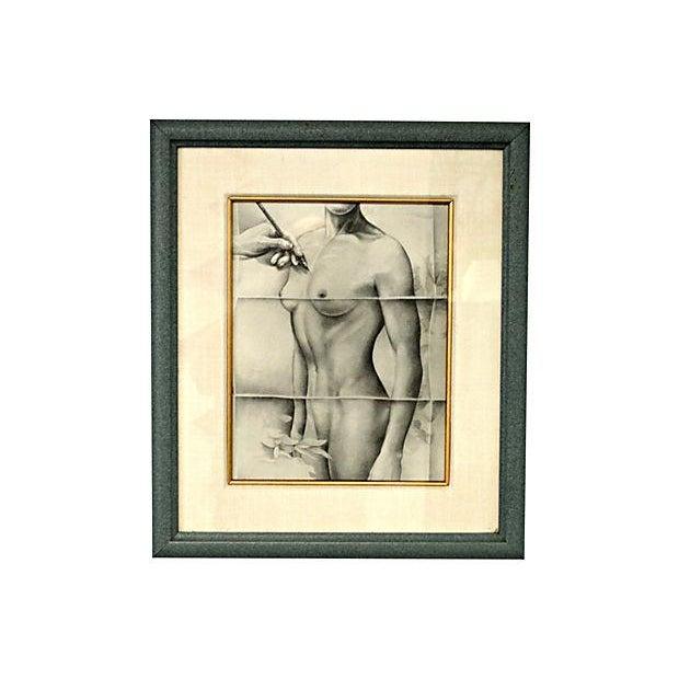 Image of Male & Female Torso Drawings - Set of 4
