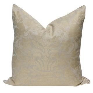 Belgian Linen Damask Pillows - A Pair