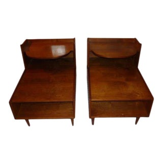 Kipp Stewart Drexel Declaration Two Tier End Tables - A Pair