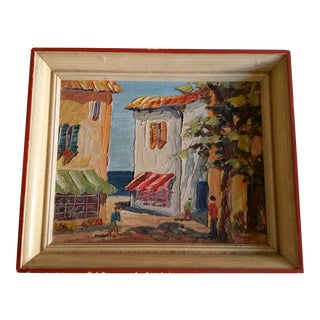 French Riviera Street Scene Painting