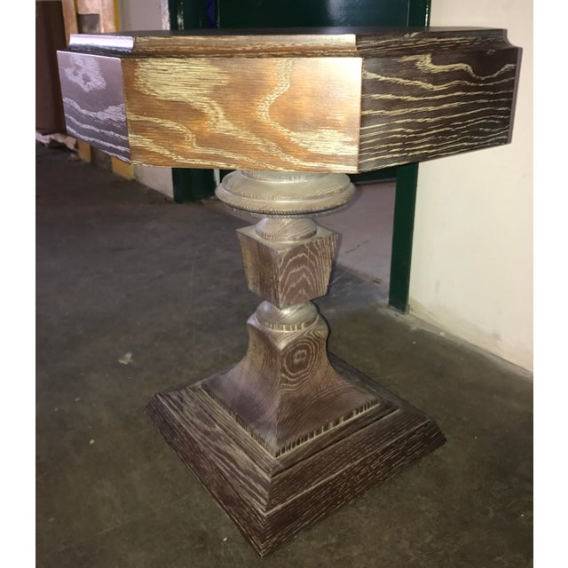 Truex Brown Oak Rook Side Table - Image 4 of 4