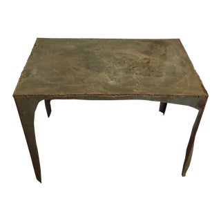 Handmade Industrial Scrap Metal End Table