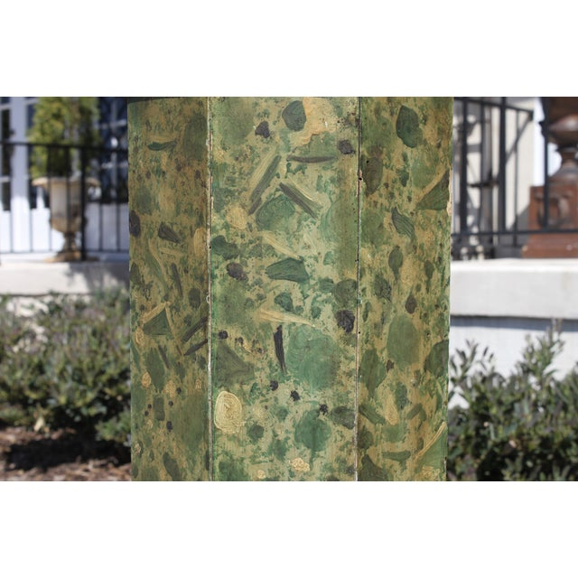 19th C. Faux Painted Stand/Pedestal - Image 5 of 7