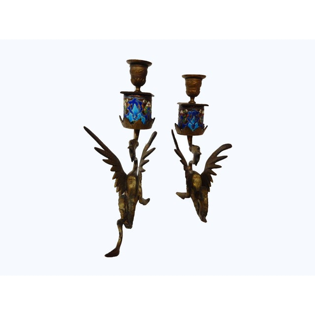 French Gothic Gargoyle Candle Holders - A Pair - Image 6 of 7