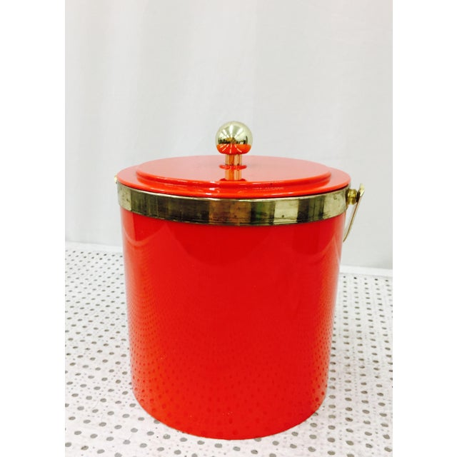 Vintage Red & Gold Ice Bucket - Image 4 of 10