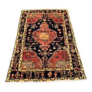 Vintage Persian Hamadan Rug - 3′3″ × 5′