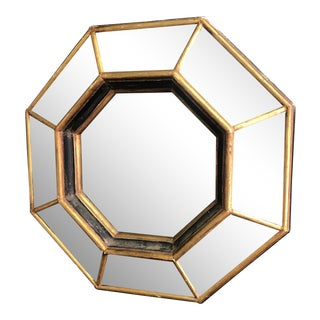 Vintage Octagonal Faceted Mirror