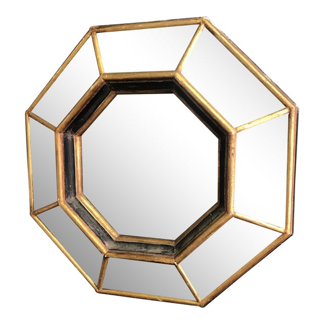 Vintage Octagonal Faceted Mirror - Image 1 of 5