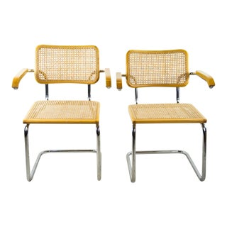 Cesca for Knoll Beech Chairs - A Pair