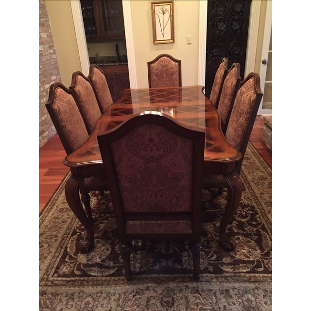 Formal Dining Room Set - Table with 8 Chairs - Image 9 of 9