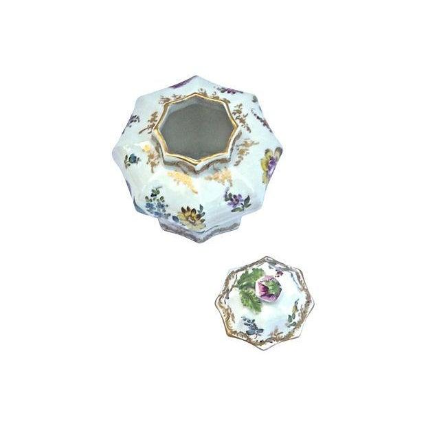 Antique Meissen Floral Lidded Jar - Image 3 of 7