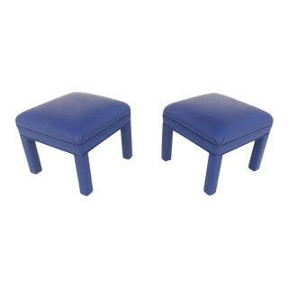Reupholstered Ottomans or Low Stools, circa 1980s - A Pair