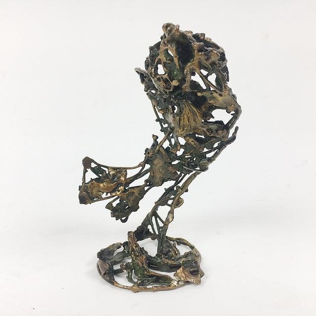 Ben Kupferman Bronze Sculpture With Malachite - Image 3 of 6