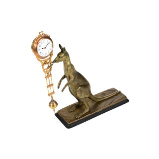 19th Century Bronze Kangaroo Mystery Swinger Clock